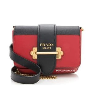 Prada Red and Black Cahier Belt Bag